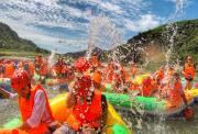 【狐狸旅行★2018.6.24周日】十渡拒马河漂流 水上竹筏 东湖港大瀑布