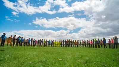 2018达里诺尔草原圣湖重装徒步露营穿越无人机视频