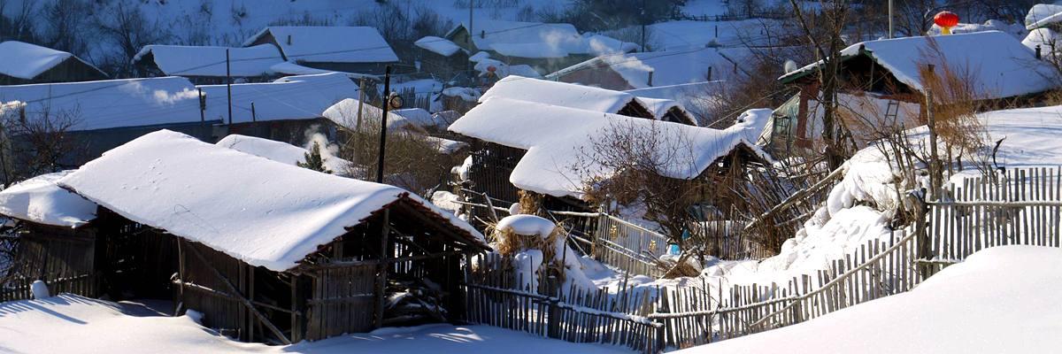 穿越雪村&&徒步林海雪原,邂逅冬天冰雪童话